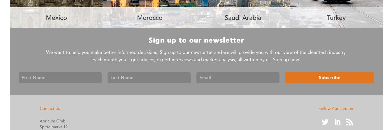 Apricum - Newsletter-Integration