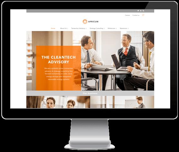 Screenshot Webdesign Apricum-Group.com